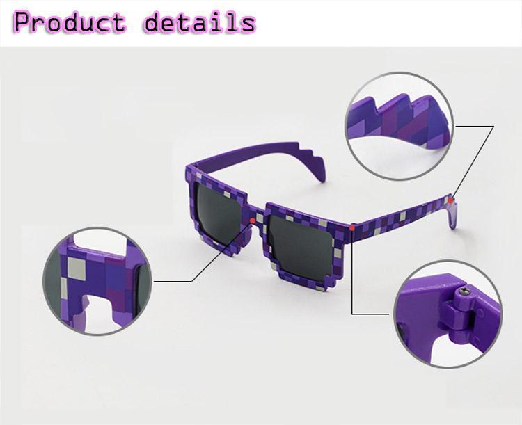 4a8d932475 Gafas de sol vistoso minecraft niños cosplay juguetes de figura de acción  cuadrado