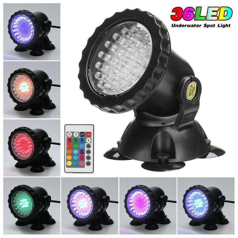 4 PCS Lights RGB LED Underwater Spot Light Aquarium Garden Fountain Pond Lamp UK