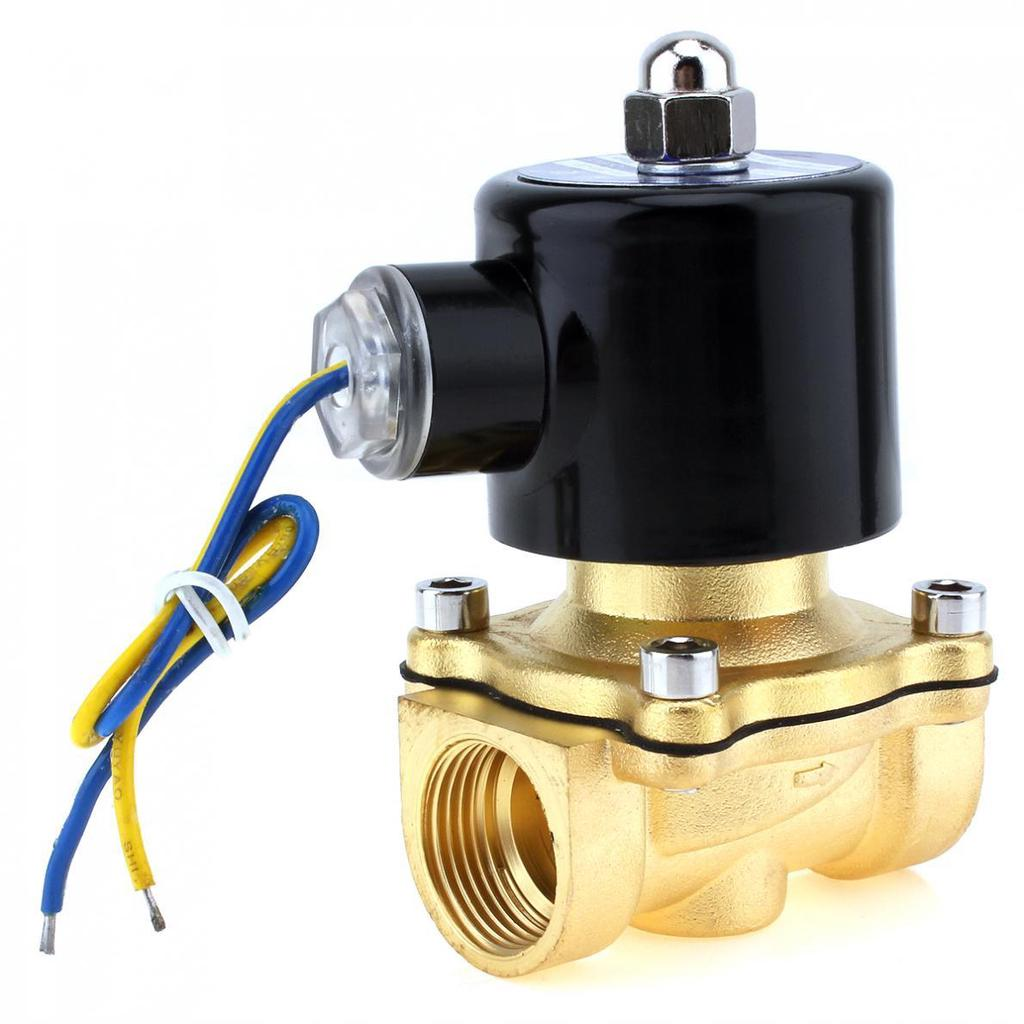 MagiDeal 12V AC 3//4 Solenoide Elettrico Combustibili Aria Acqua Valvola Ottone Gas Normale Chiuso