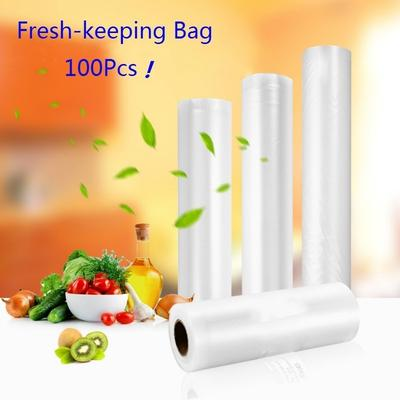 Pop Food Storage Bags Thick Netted Packaging Pouches Clear Vacuum Sealer 100PC