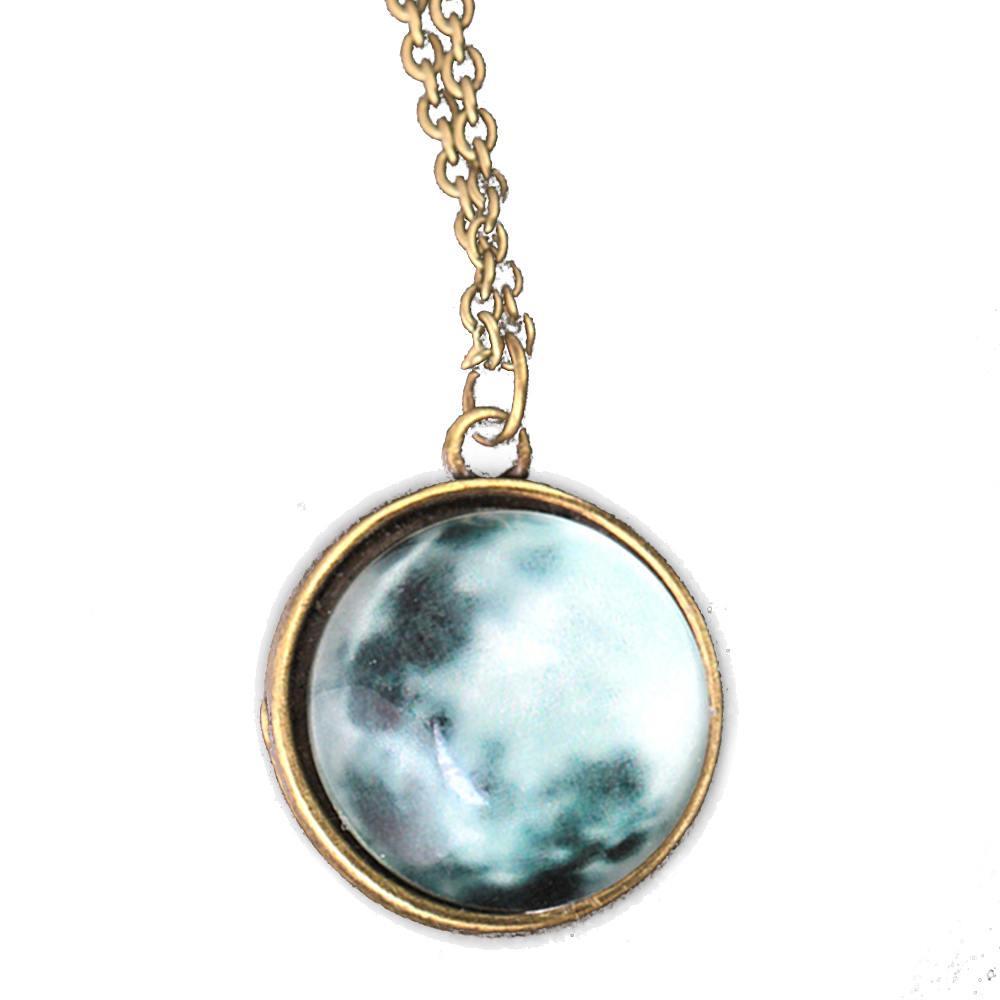 8860dc8f91db Mujeres Full Moon Rising Moon colgante collar brillan en la oscura cadena  luminosa - comprar a precios bajos en la tienda en línea Joom