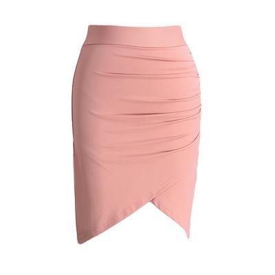 4820e2b02 Nueva moda mujer falda Stretch vestido cintura asimétrica acanalada ...