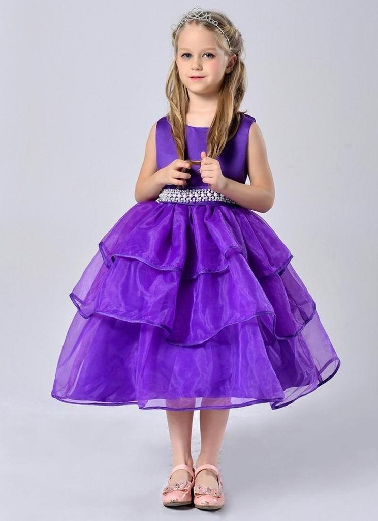 Vestidos de niñas para fiesta perlas malla sin mangas princesa Tutu ...