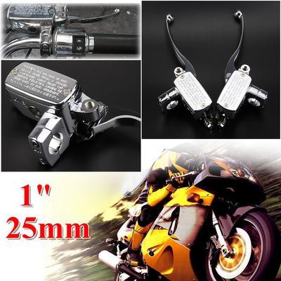 "Motorcycle Custom Handlebar Brake Clutch Master Cylinder Levers 7//8/"" 22mm Skull"