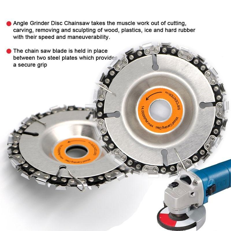 """4/"""" Angle Grinder Disc 22 Tooth Saw Blade Chain Saw for Carving Wood Plastic"""