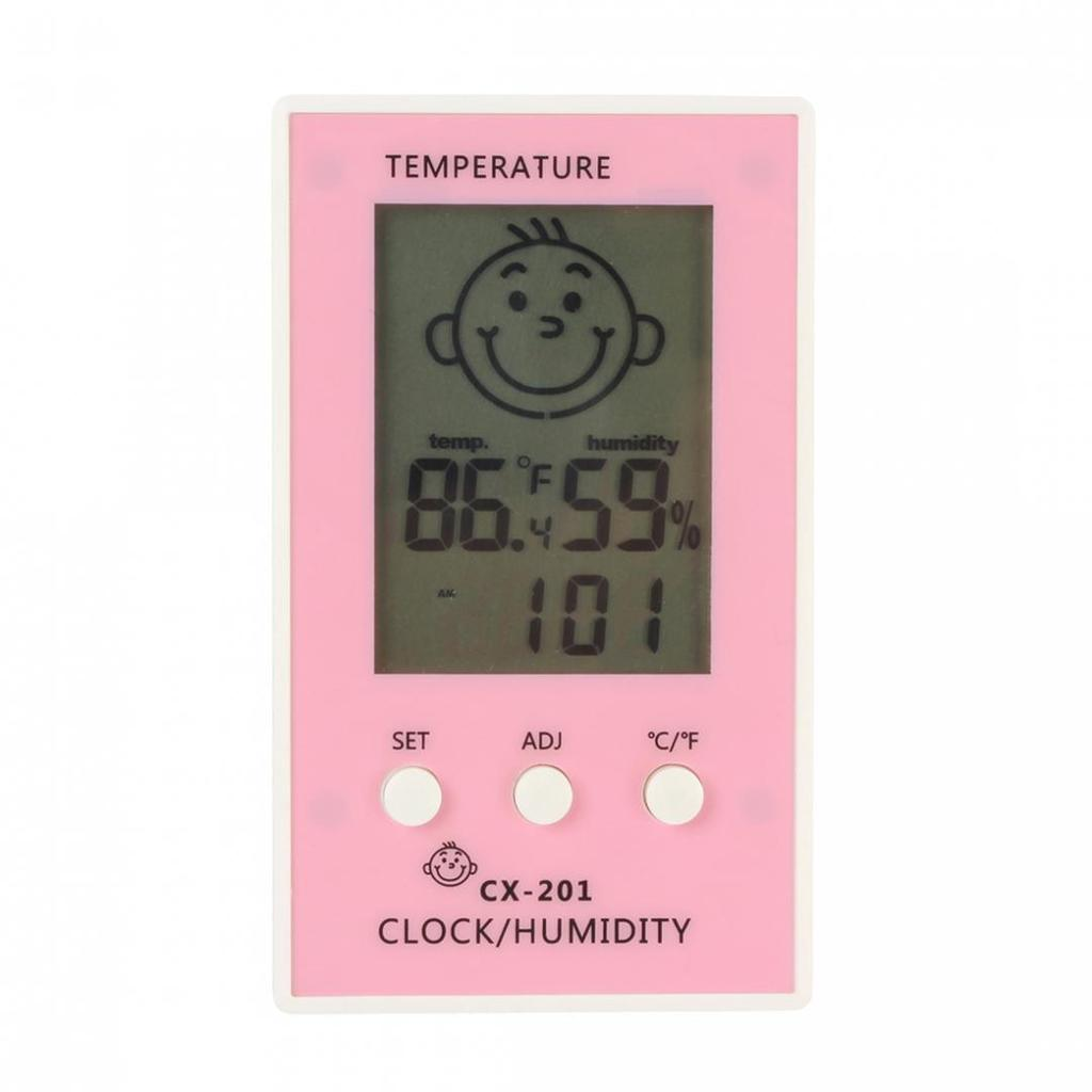 Baby Face Lcd Digital Wireless Thermometer Hygrometer Temperature Htc 1 Of 5