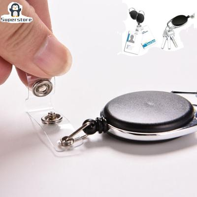 Round Recoil Id Badge Lanyard Retractable Reel Tag Key Card Holder Belt w//