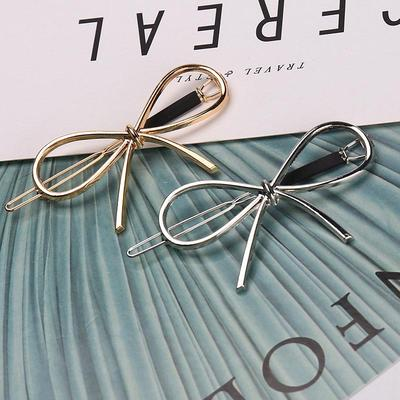 Sweet Hairpin Metal Bow Knot Barrettes Hair Accessories Hair Holder Hair Clips