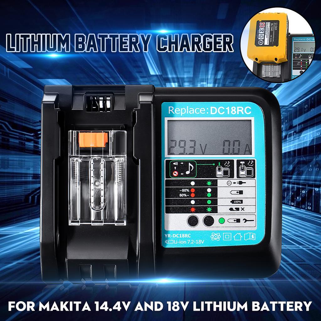 Battery Charger for MAKITA DC18RC-3A BL1830 BL1815 BL1840 BL1850 14.4V-18V Kit