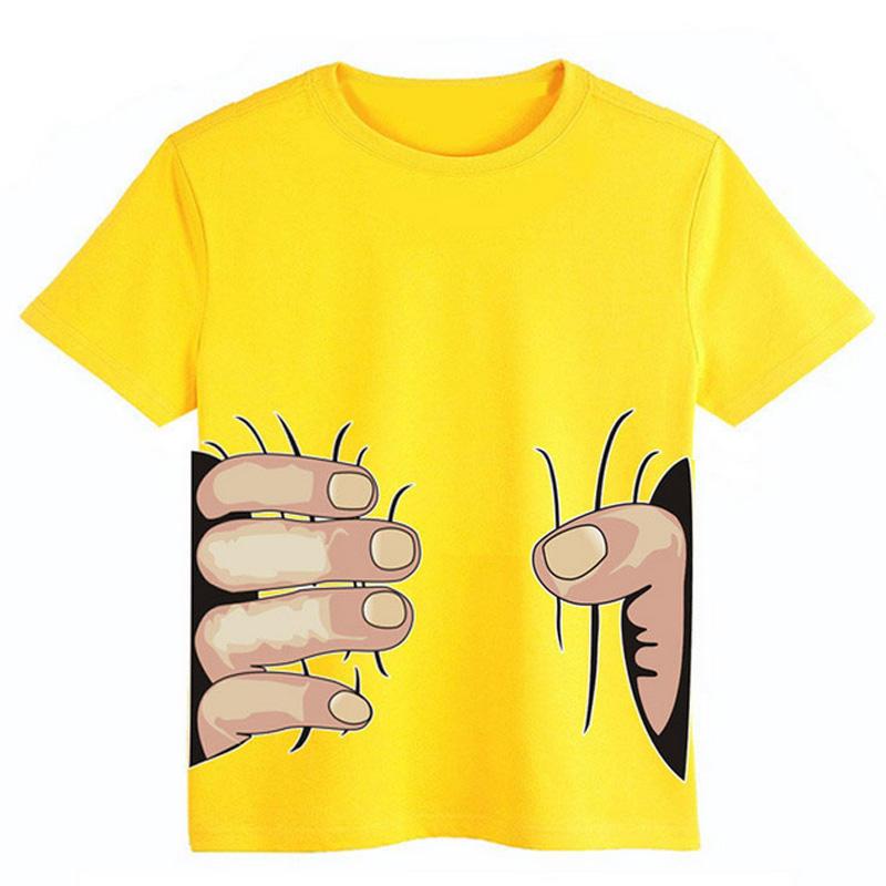 Camiseta chicas chicos 3D mano grande parodia gancho agarrador T ... e41ab9084c82e
