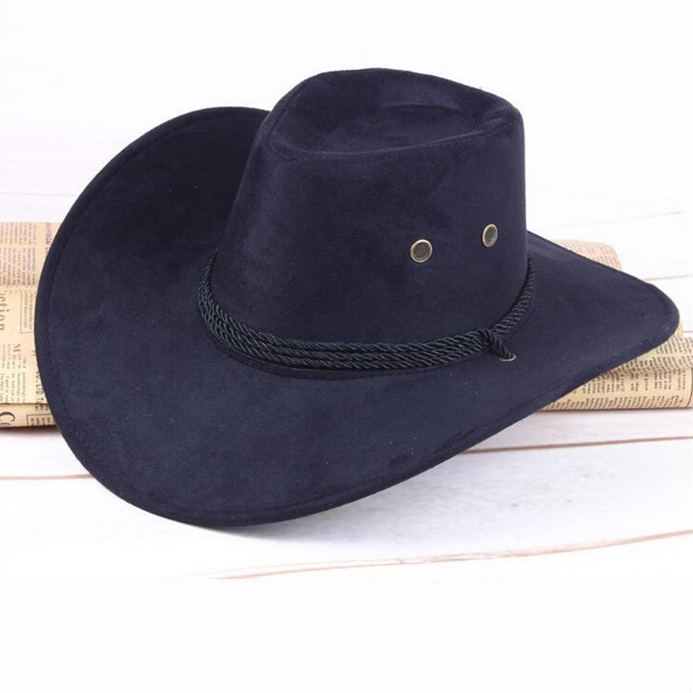a1c87a92268 Retro Western Cowboy Hat Men Riding Cap Wide Brim Crushable Protable ...