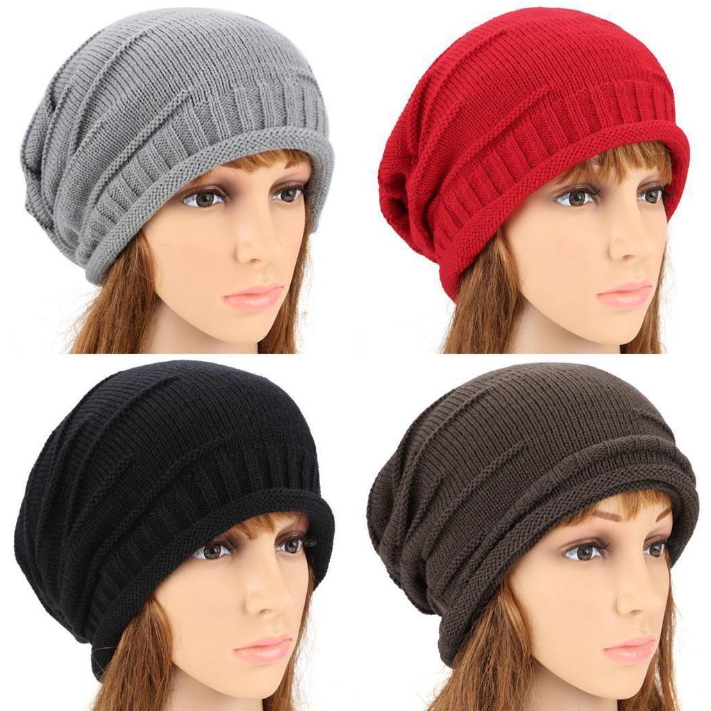 4a6830fabd4 Spoho Unisex Elastics Warm Crochet Knit Beanie Hat Ski Hat Oversized Cap-buy  at a low prices on Joom e-commerce platform