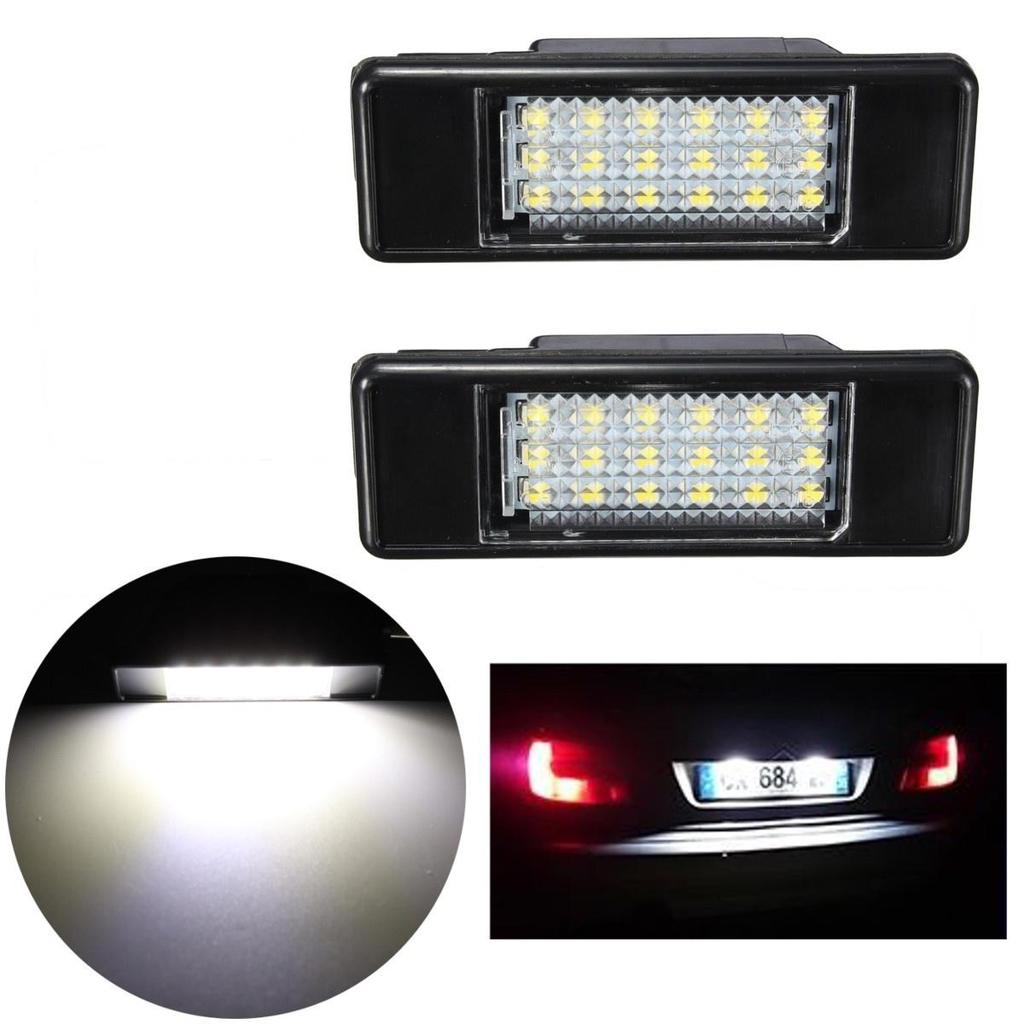 2X FOR PEUGEOT 106 207 307 308 406 407 EXPERT 18 WHITE LED NUMBER PLATE LAMP