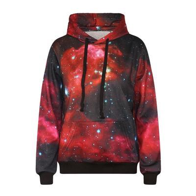 Espacio galaxia sudaderas Tops chándales de hombres y mujeres 3D Print rojo  estrellado cielo otoño sudaderas 2fe4c7470ce