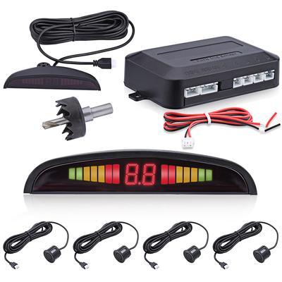 Electromagnetic Auto Parking Reverse Radar Sensor LED Buzzer Alarm Kits DC12V