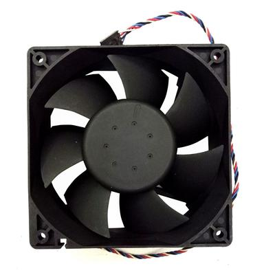 Low Noise Cooling Fan Kit 2 pin 0.2A Black Mounting Replacement Large Air Flow