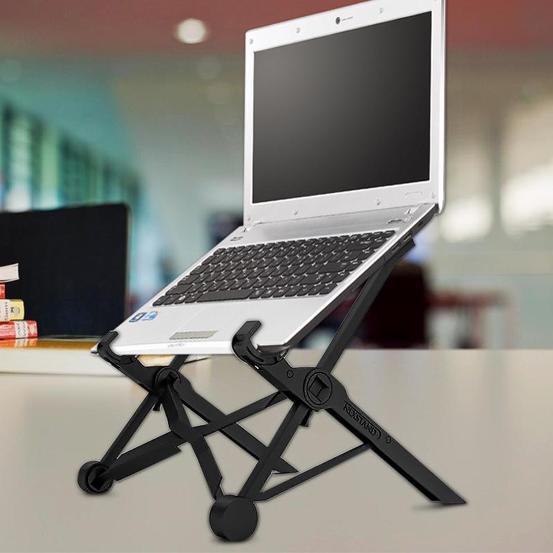 Складная подставка для ноутбука на стол женский манекен в белье
