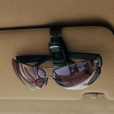 SparY Car Kit Glasses Clip Red PVC Practical Sunglasses Clip Cards Clip Double-Ends Car Visor Sunglasses Ticket Cash Clip Holder