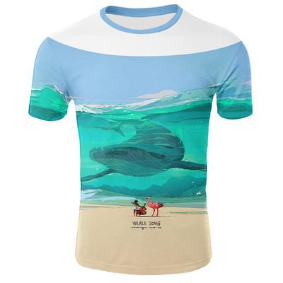 70c0e0ac70bd85 Męska koszulka T-shirt z nadrukiem Kreatywna koszulka 3D Tee Męska koszulka  z krótkim rękawem
