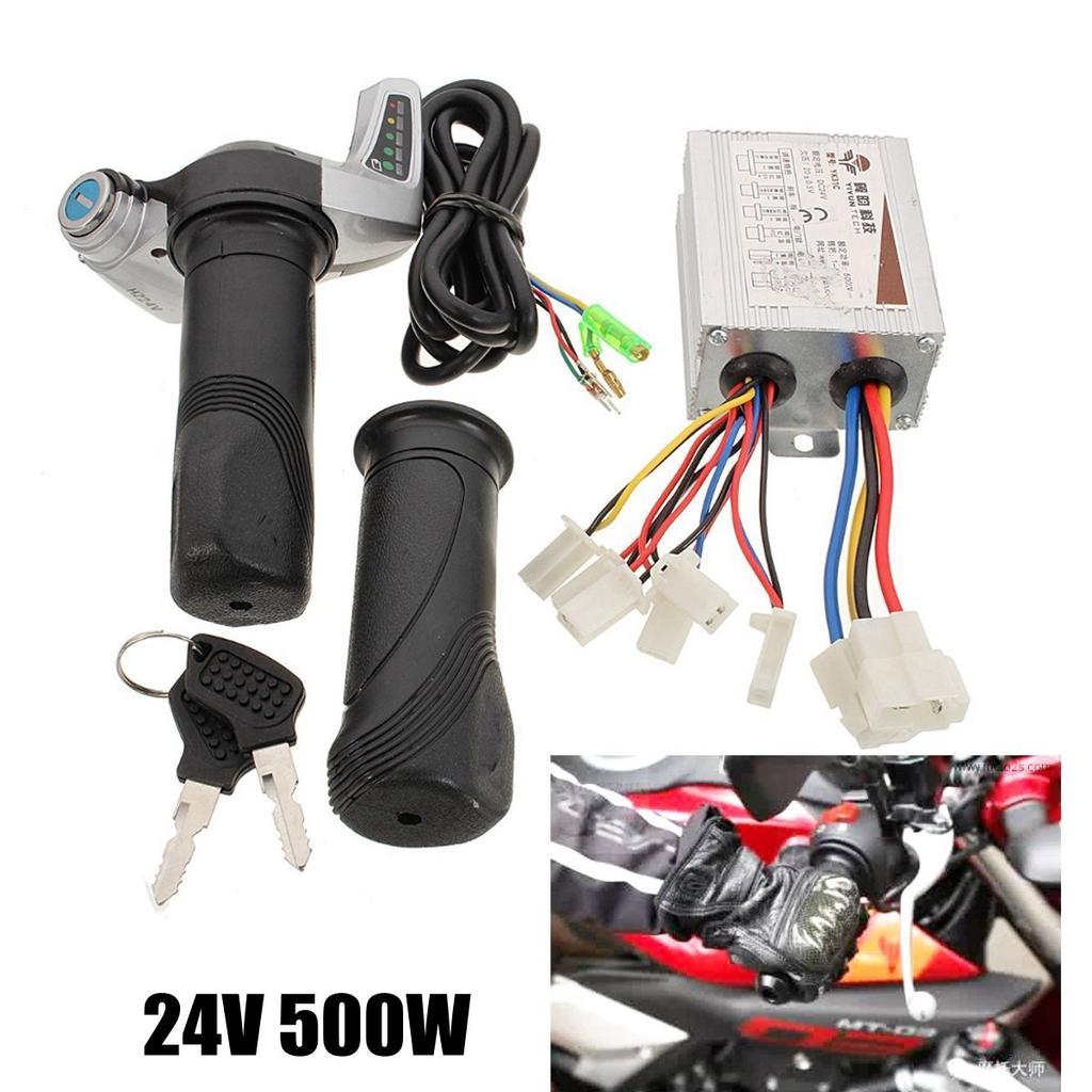 24V 350W Electric Motor Speed Controller Throttle Set For E-Bike Razor Scooter