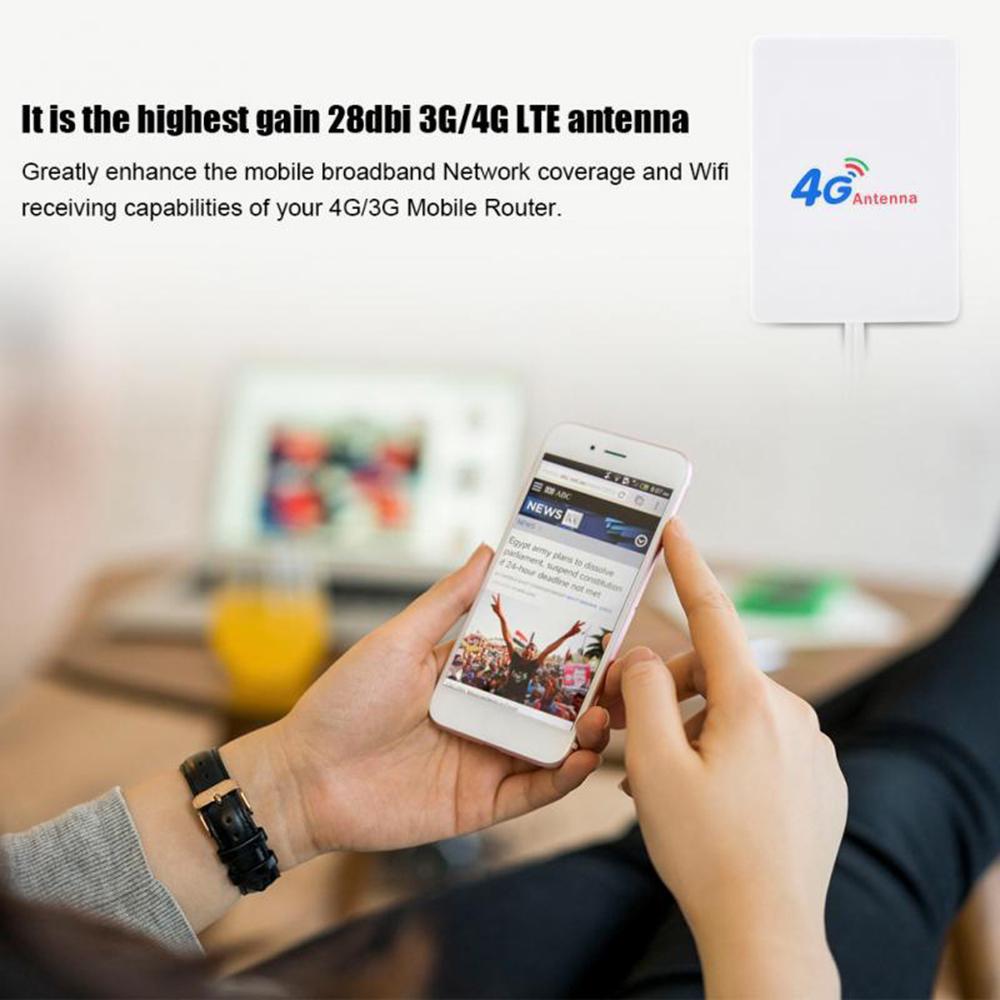 Hotspot External WiFi Antenna Signal Booster 28dBi Gain 3G 4G LTE Antenna