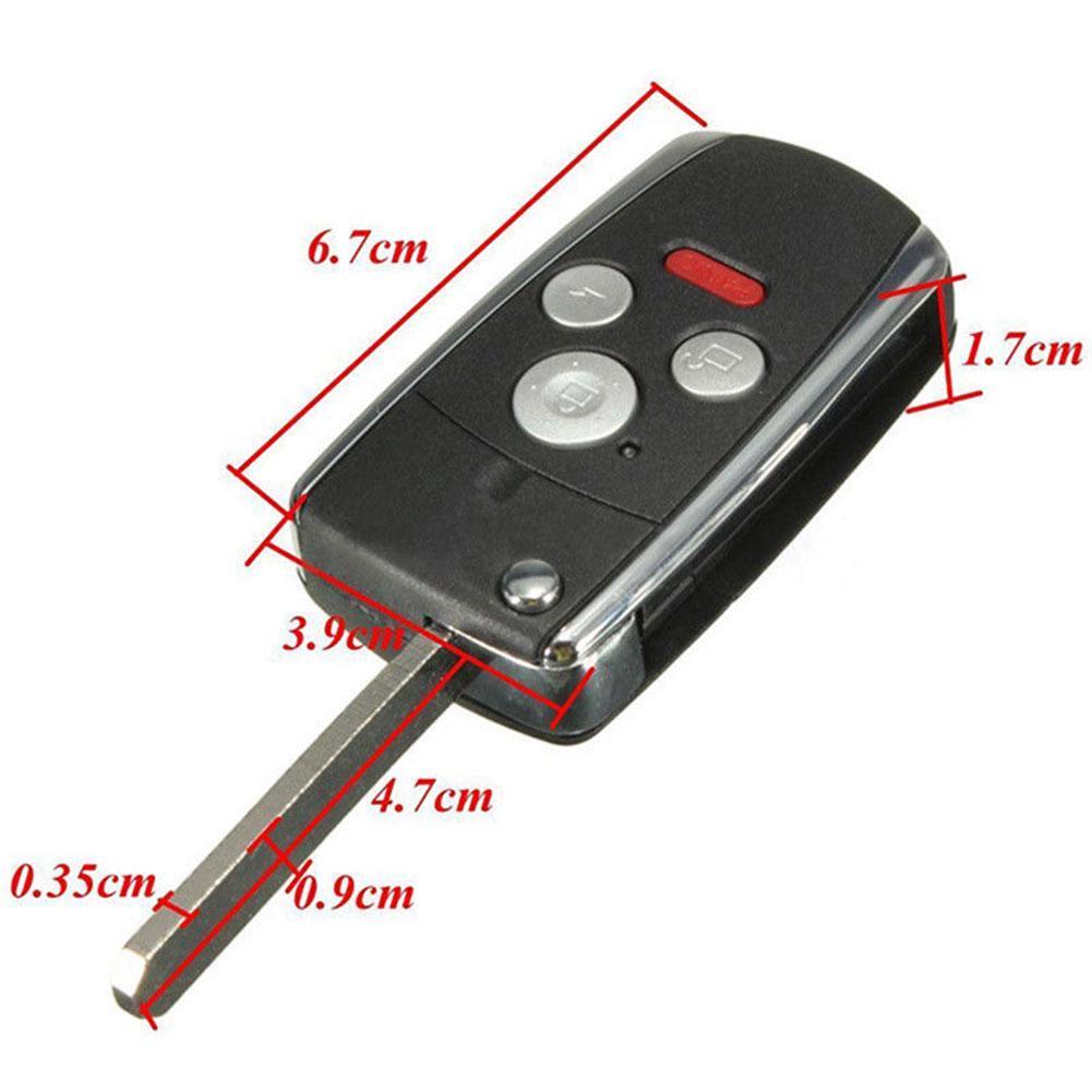 3+1 4 Button Uncut Remote Folding Flip Key Shell Case For Honda Accord Civic CRV