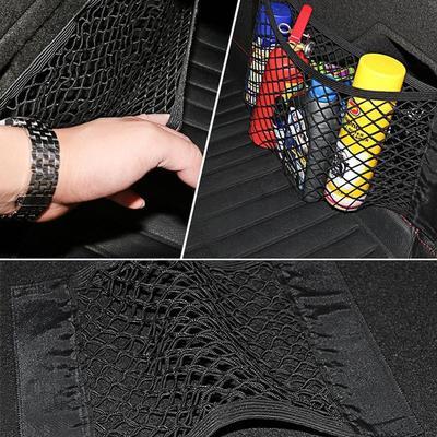 Support de Poche arri/ère Organiseur de Bagages en Nylon Autocollant Homeve Sac de Rangement pour Coffre de Voiture en Maille pour SUV