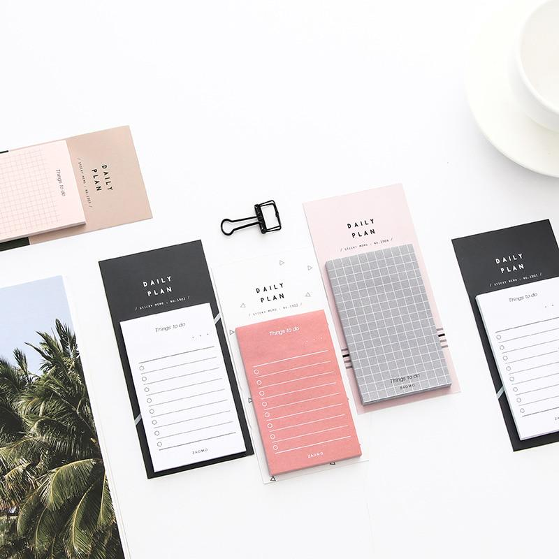 Creative Study Work Plan Kraft Paper Sticky Notes Memo Pad Kawaii Stationery Office Accessory School Supplies Buy At A Low Prices On Joom E Commerce Platform