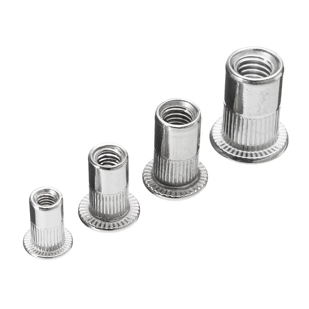 Automobile Aviation Instrument Boat Decoration 200PCS Rivet Nuts M6 304 Stainless Steel Threaded Inserts Rivetnut Nutserts Set for Furniture
