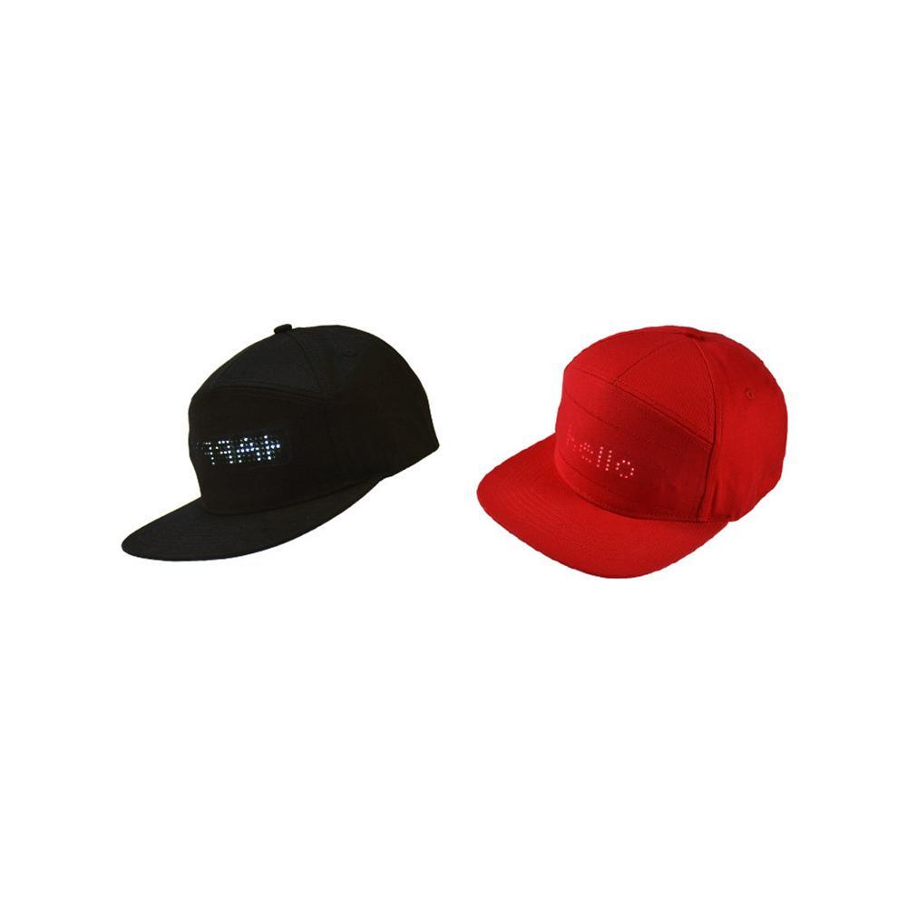 LED Message Hiphop Cap Baseball Adjustable Cap Hat Fashion Men Boys COOL C0X2