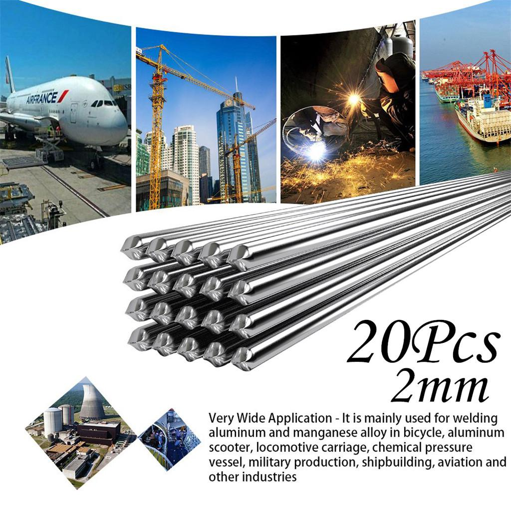 1.6mm*500mm Easy Melt Welding Rods Low Temperature Aluminum Wire Brazing 20pcs