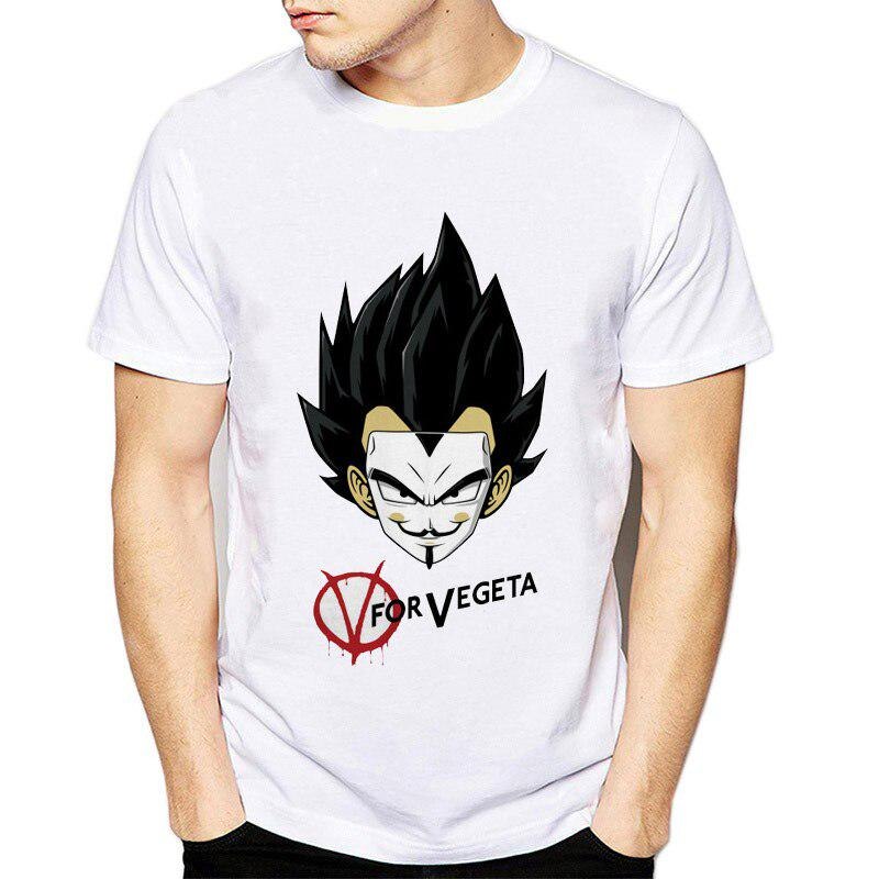 Dragon Ball Z Homemade Dragon Ball Vegan tshirt GOKU Screenprint Tshirt Soy Milk LARGE Anime Illustration Vegan