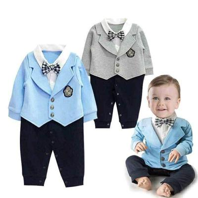 Fairy Baby Newborn Baby Boys Outfit One Piece Romper Long Sleeve Jumpsuit Gentleman Tuxedo