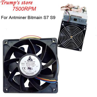6000RPM DC12V 2 7A Miner Cooling Fan 4-Pin Cooler For