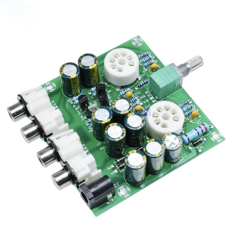 Newest 6J1 tube preamp amplifier board Pre-amp Headphone amp 6J1 valve  preamp bile buffer diy kits