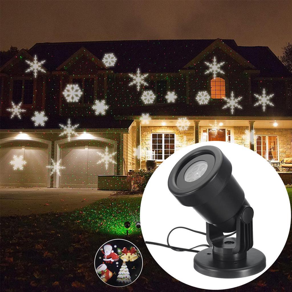 442f091e977 Navidad Laser paisaje lámpara luz LED Halloween Navidad decoración ...