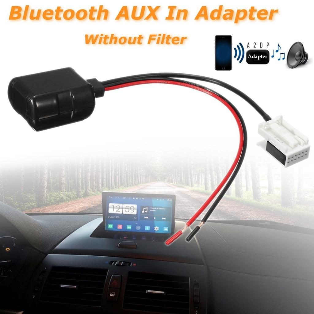 Blueteeth CD Radio Stereo Aux In Adapter Receiver w// Filter For BMW E60 E61 E63