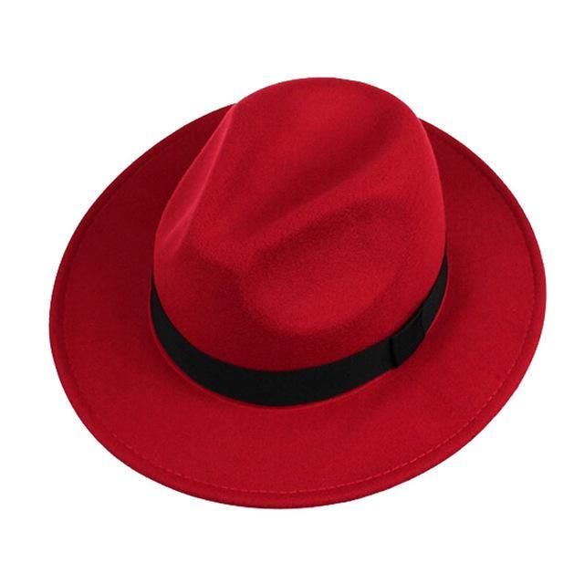 f96734f4d661c Unissex inverno Panamá Vintage Jazz preto Fedoras chapéu Curl aba larga  Trilby mulheres bonés Hip-Hop Gorros