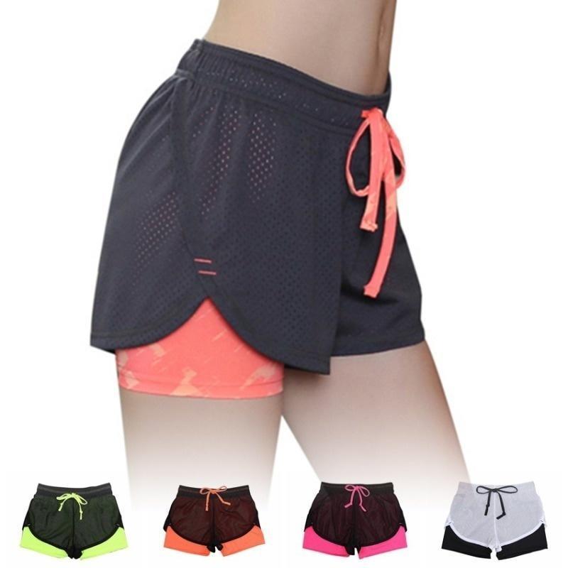 运动紧身衣短女子体操运动健身的酷女人短女士跑步短裤运动服