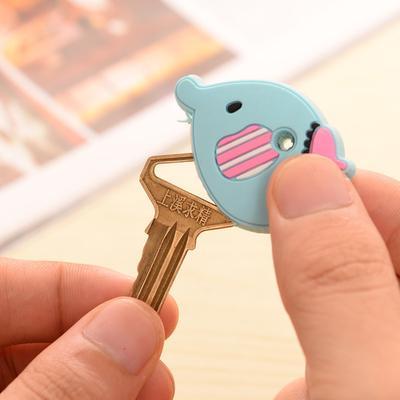 Cartoon Elephant Panda Head Cover Key Top Cap Chain Keyring Key Case