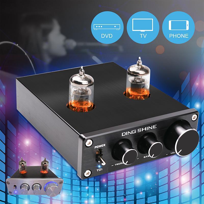 HiFi 6J1 Vacuum Tube Preamplifier Stereo Audio Treble Bass Pre Amplifier Buffer