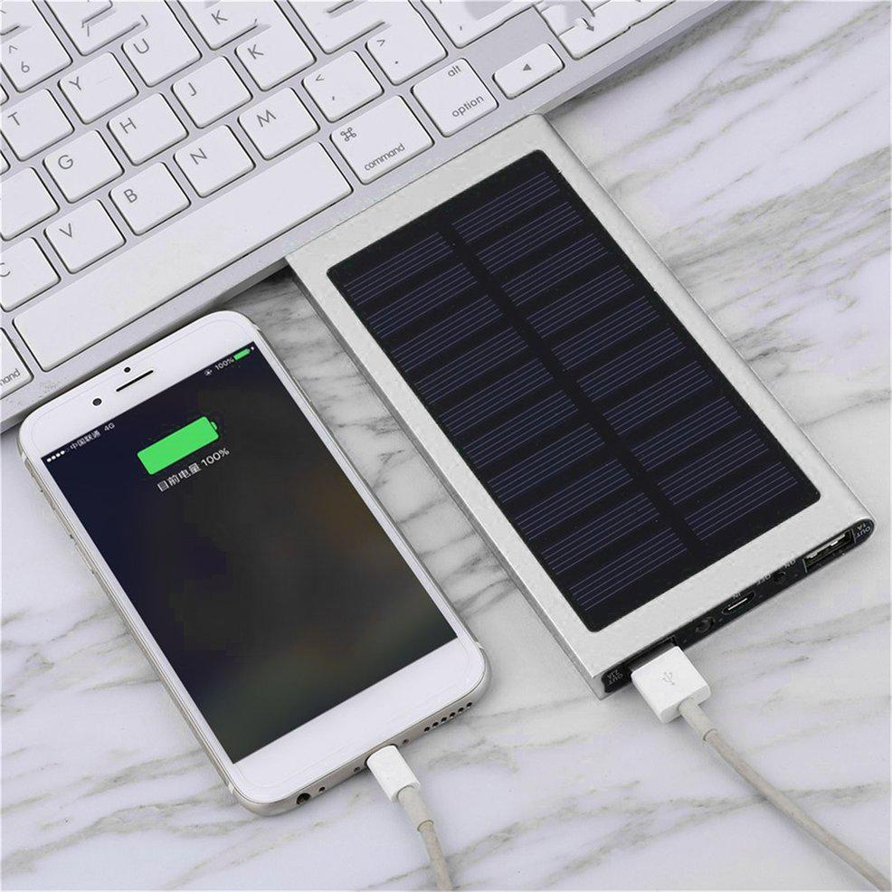FD Large Capacity 100000MAH 2 USB Port Solar External Power Bank For Android iPhone Lt