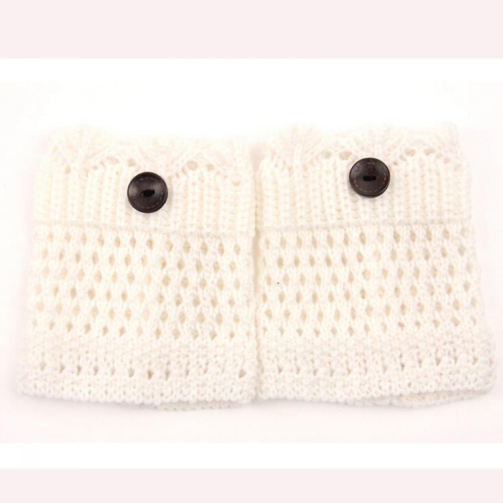 Manguitos invierno hueco hacia fuera arranque calcetines Crochet ...