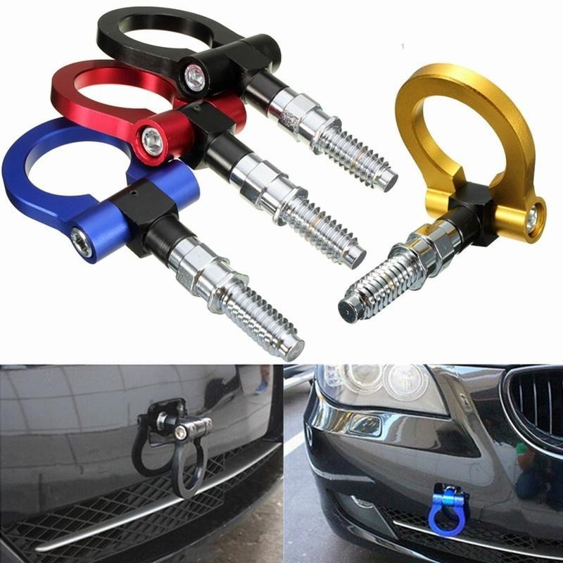 Towing Hook Racing Tow Auto Trailer Ring for Universal BMW European Car Blue