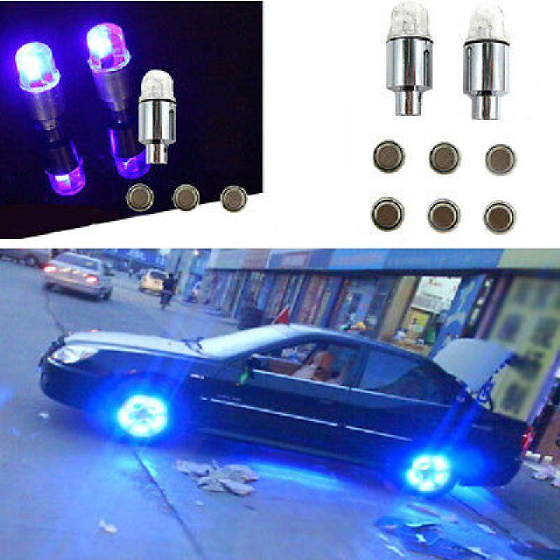 4x Car LED Dragonfly Wheel Tyre Tire Air Valve Stem Caps Light Lamp Accessories