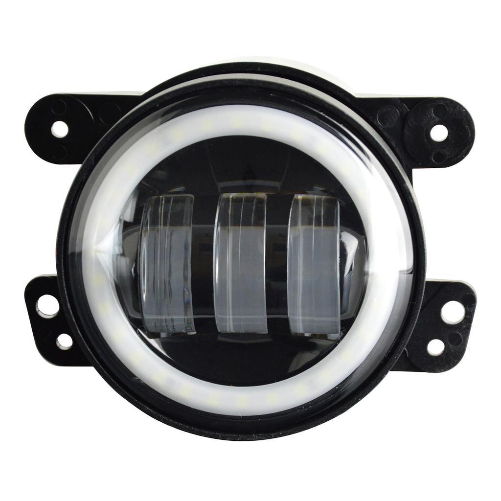 2pcs 4 Zoll Runde Auto LED Nebelscheinwerfer 30W Halo Angel Eye ...