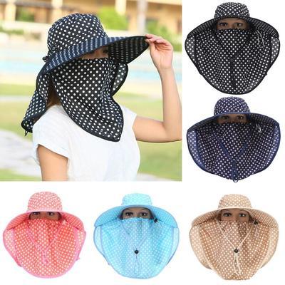 Outdoor Garden Fishing Flap Neck Protection Hat with Sun Shield 5 Colors 71e23de15a41