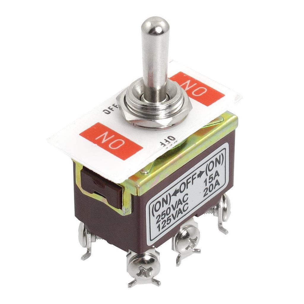AC 250V/15A 125V/20A ON/OFF/ON 3 Position DPDT Schalter Taster ...