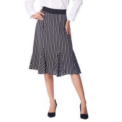 Kenancy mujeres de rayas falda elegante negocio de espina de pescado ...