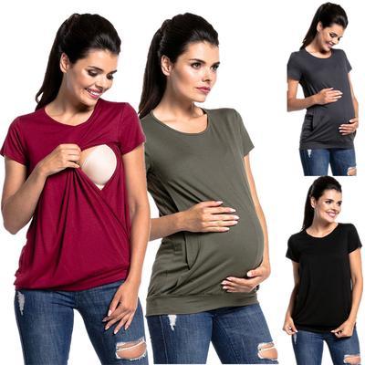 85031bb02a5da Fashion Pregnant Casual Tops Gravida Maternity Loose T-Shirts Pregnancy  Fitting Clothes